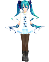 MMD - Njxa2 Casual Miku by InViSioNsTyLe