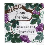 Jesus Needlepoint by teddiem