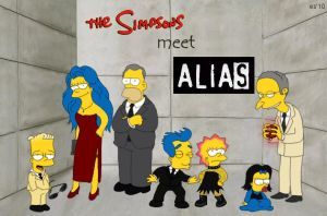 The Simpsons Meet ALIAS by ewigestudentin