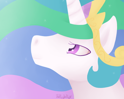 Presenting her Majesty, Celestia by Holly--Jolly