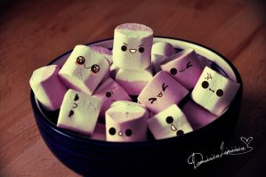 bowl of marshmallows. by africansunn