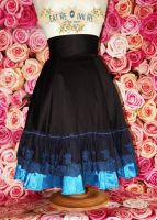 Black and blue gothic skirt by zeloco