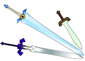 Zelda - TP Ocarina Swords by kyrio