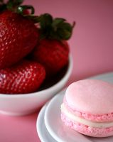 Strawberry Macaron by bittykate