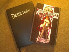 my death note and book by death-note-boy