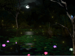 Bioluminescent pond life by Egglane