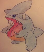 Gible drawing by Krayzieee
