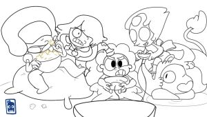 STEVEN UNIVERS GAME TIME! Color line by edd00chan