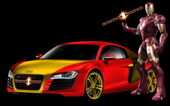 audi r8 iron man by dixonchatt