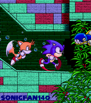 Sonic and Tails Aquatic Ruin by Sonic140