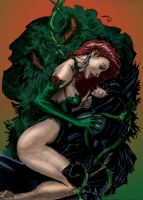 Poison Ivy and Batman - Pin up by J-Skipper
