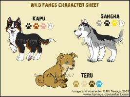 Wild Fangs Sheets_Puppies by Tenaga