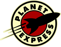 Planet Express Logo Sticker 1 by Pencilshade