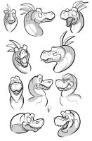 Dino Heads - Ya Dig! by secoh2000