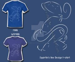 Squirtle's Line T-Shirt by UmbreoNoctie