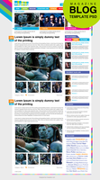 Premium Magazine Blog Template Home Page PSD by cssauthor