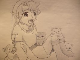 Link with a bunch of kittens by girloveslink
