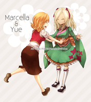 c.c. Marcella and Yue .c.c by DigiKat04