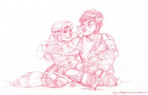 Astrid and Hiccup by BeyondThePines