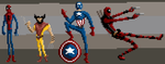 Marvel Pixel Doodles by SmashRS