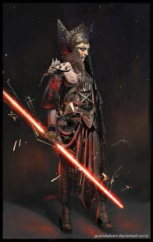 Sith Lord concept art by Jackiefelixart