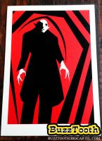 'Bird of Death' - Nosferatu Inspired Screen Print2 by Buzztooth