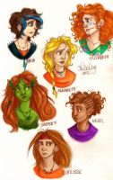 Lady Heroes of Olympus by sawebee