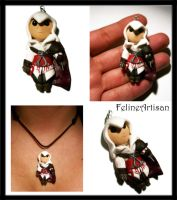 Ezio, Assassin's Creed Revelations Miniature by FelineArtisan