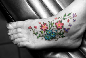 Flower Foot by OMyGodZombies