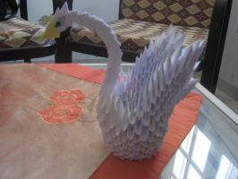 my First 3D Origami Swan by Entissar