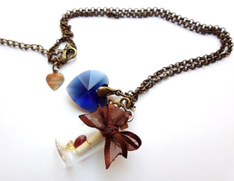 Pirate Lolita inspired bottle necklace by WaterGleam