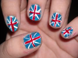 Union Jack Nails by Princespurple107