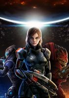 Mass Effect Femshep Fanart by bailknight
