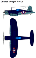 Chance Vought F4U1 Corsair by bagera3005
