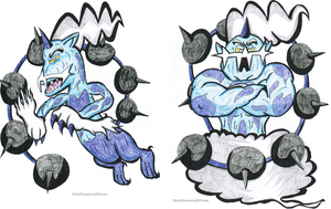Thundurus Therian and Incarnate Forms by ChiefLucarioOfficer