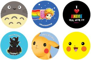 Button pack! by chi-u