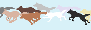 Silhouette Wolves by coolbeans124
