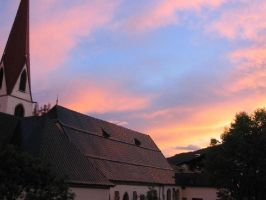 Champery Sunset 2 by SpikedPyro
