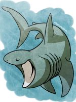 shark week day7- BASKING SHARK by Ununununium