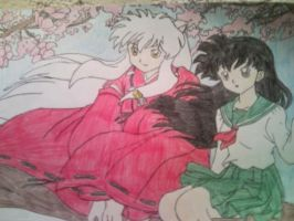 Inuyasha and Kagome by KyraAnimeLuver12