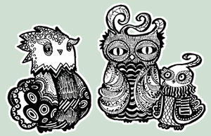 Turkey Owls by nei-no
