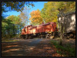 Battenkill in the fall by cove314