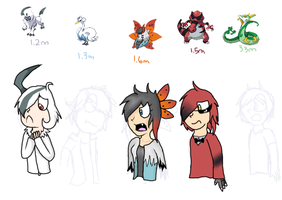 Pokemon White Gijinkas by NinjaFlyingSheep