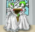 a Gardevoir wedding by Mazeyelle