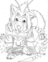 haseo 3rd form and chim by Suenta-DeathGod
