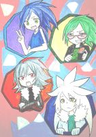 Chibi Hedgehogs :human version: by SashaVasileva