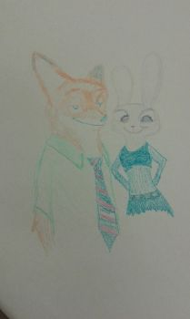 First attempt at Nick and Judy by Cimar-WildeHopps