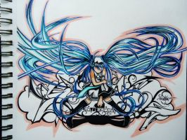 Graffiti Miku by Precise24