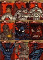 marvel sketch cards 61to69 by anjinanhut
