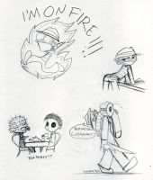 Slasher doodles by thedarklordkeisha